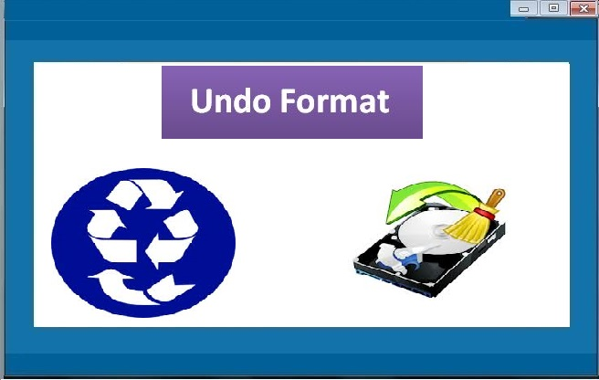 Undo Format tool to restore Formatted Drive
